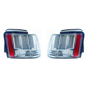 Fits 1999 2004 Ford Mustang Base Gt Led Taillight Driver rh Pair Fo2811188