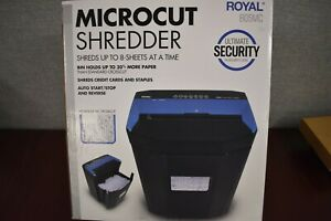 Royal 805mc 8 sheet Microcut Shredder Jam Free Rollers Automatic Start Stop