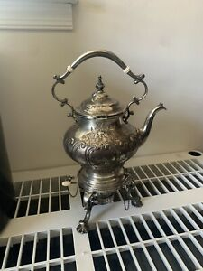 Gorham Sterling Silver Water Kettle Antique Exquisite Finely Hand Chased
