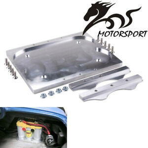 Group 34 78 Optima Yellow Red Battery Holder Tray Relocation Bracket Mount