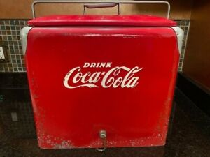 Vintage Coca Cola Cooler with bottle opener and drain plug