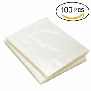 100 Pack Thermal Laminating Pouches 3 Mil Heat Seal A4 Letter Size 9x11 5 Sheets