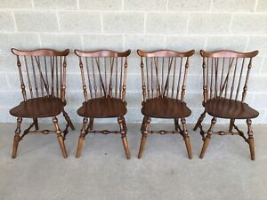 Hale Furniture Maple Windsor Brace Back Side Chairs Set Of 4