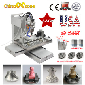 6040 Cnc Router 3d Engraver 5axis 2200wusb Engraving Drilling Milling Machine Us