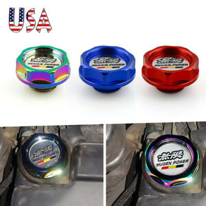 Us Mugen Power Aluminum Oil Cap Radiator Cap Cover Fuel Filler Tank For Honda