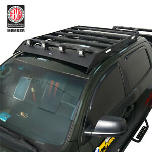 Fit Toyota Tundra 07 13 Crewmax Steel Roof Rack Luggage Carrier W led Spot Light