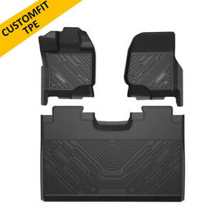 Floor Mat Liners For Ford F150 15 2021 All Weather Tpe Tech Front Rear Row Black