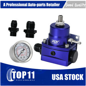 Blue Fuel Inject High Pressure Regulator With Boost And Gauge An8 8 6