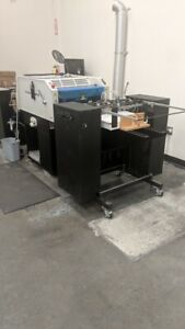 2012 Kompac Ex Koat 20 Uv Coater Includes Feeder And Delivery Stacker