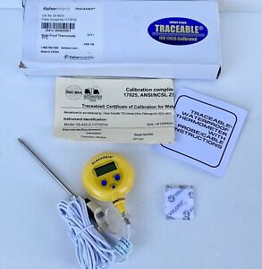 Fisherbrand 02 402 0 Traceable Water proof Digital Thermometer Calibrated