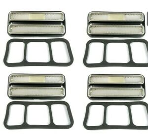 Set 4 Clear Deluxe Side Marker Lights 1968 72 Chevy Gmc Truck Turn Signals