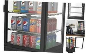 Countertop Refrigerator Display Case Commercial Beverage Cooler With Led Lighti