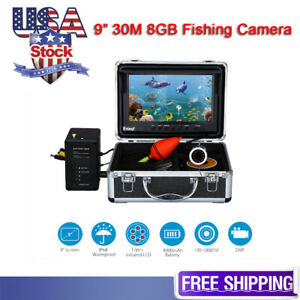 Eyoyo Portable 9 inch LCD Monitor 30M 8GB Fish Finder HD 1000TVL Fishing Camera