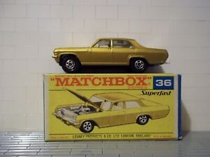Matchbox Superfast Transitional # 36-A Opel Diplomat - Silver Grille -Minty/Bxed