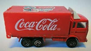 OLD COCA - COLA COKE ADVERTISING SMALL RED TRUCK CAR (BACK SIDE IS OPEN)