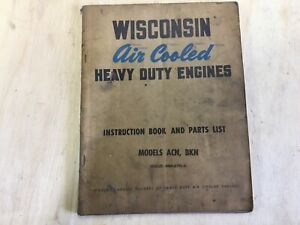 Wisconsin Engine Parts Service Manual Model Acn bkn Mm 270 a Good Used