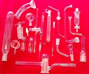 Assorted Glass Lab Accessories Science Chemistry Lot 20 Pieces