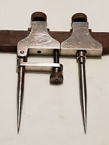 Vintage L s Starrett No 50 a Chrome Plated Trammel Points