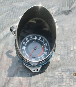 1972 74 Corvette White Face Complete Tachometer With Bezel 5657519 Nice Tested