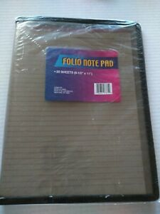 Note Pad 8 X 11 Gray Smoke Plastic Case Cover Folio 50 Lined Sheets Paper