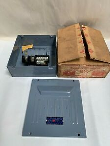 Vtg Unused Wadsworth 704 8 70 Amp Circuit Breaker Panel Box Enclosure a10