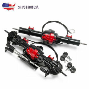 Complete Alloy Front Rear Axle With Differential Lock For Rc D90 1 10 Crawler