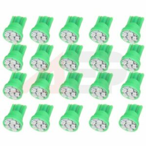 20x Green T10 6 Smd Led W5w 194 Light Car Speedometer Instrument Dash Bulbs Lamp