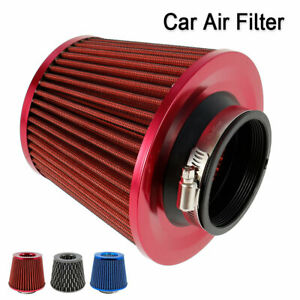 K N 3 Round Tapered Universal Air Intake Cone Filter Chrome Car Truck Suv