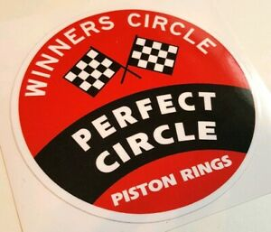 Perfect Circle Sticker Decal Hot Rod Rat Rod Vintage Look Car Truck Drag Race