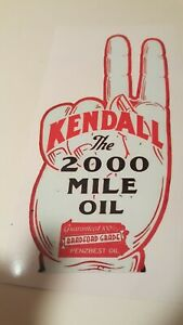 Kendall Motor Oil Sticker Decal Hotrod Rat Rod Vintage Look Car Truck Drag Race