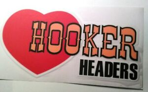 Hooker Headers Sticker Decal Hot Rod Rat Rod Drag Racing Vintage Look Car Truck