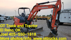 2014 Kubota U55 4 Mini Trackhoe Small Excavator 4 Way Blade