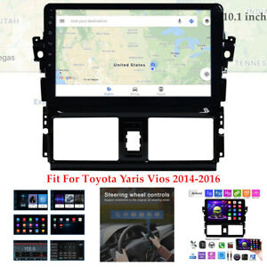 10 1 Android 9 0 Car Gps Radio Player Bluetooth For Toyota Yaris Vios 14 16