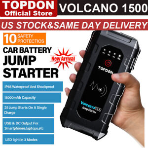 Topdon 12v Lithium Boost Jump Starter Auto Jumper Box Power Bank Battery Charger