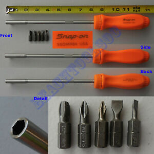 New Snap On Orange Hard Handle Extra Long Magnetic Ratchet Screwdriver Ssdmr8a