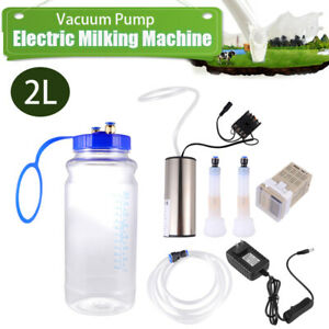 5l Portable Electric Milking Machine Vacuum Pump For Farm Cow Goat Milking