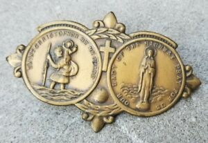 Vintage Saint Christopher Lady Of The Highway Visor Clip Accessory