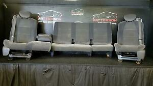 2002 Ford F150 Ext cab Front Rear Cloth Manual Seats Dark Graphite Mt