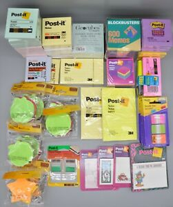 Post it Notes Pads Tabs Geocubes Note Cube Super Shades Memos Large Lot