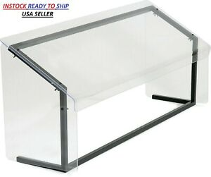 New Sneeze Guard Plexiglass 4ft Buffet Salsa Salad Bar Office Counter Restaurant