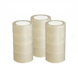 12 Roll 2 7mil Clear Carton Sealing Packing Shipping Tape 60 Yard 180ft