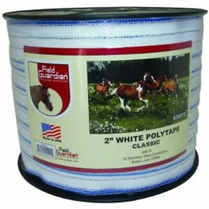 2 White Polytape Classic For Electric Fence Pet Supplies