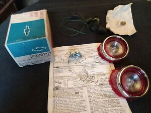 Vintage 1960 s 65 Chevrolet Nos Station Wagon Back Up Lights Lamp Unit 986297