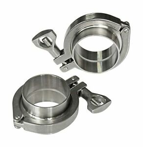 Tri Clamp Stainless Steel 304 2 sanitary Fitting tri Clamp silicone Gasket