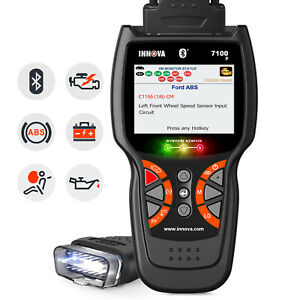Innova 7100p Auto Obd2 Code Reader Diagnostic Tool Abs Srs Bms Oil Reset Scanner