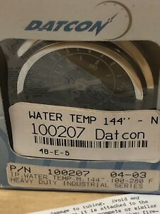 Datcon Mechanical Water Temperature Gauge 100 280 F 144 100207