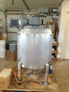 Walker Pz k 50 Gallon Stainless Steel Jacketed And Agitated Processing Tank 8068