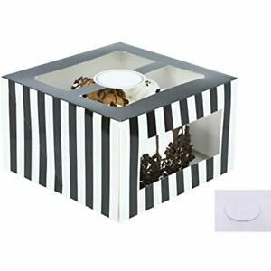 Cardboard Cake Boxes 10 6 Inch Tall Set Boards Bakery Carrier Container Window