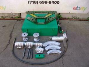 Greenlee 777 Hydraulic Bender 1 2 To 4 Inch Rigid Pipe Works Fine