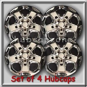 Chrome 2010 2011 17 Ford Fusion Replacement Hubcaps Chrome Wheel Covers 4